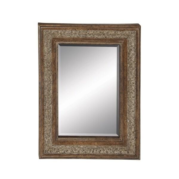 Gracewood Hollow Heid Beveled Edge Embossed Wall Mirror