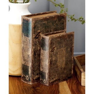 Gracewood Hollow Teters Leather Book Box (Set of 3)