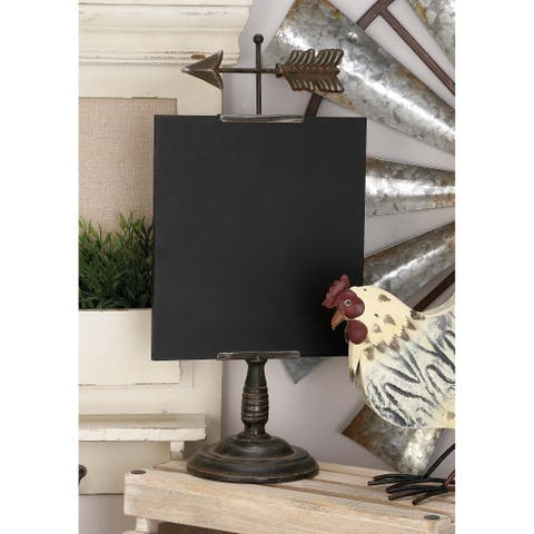 Copper Grove Chatfield Metal and Wood Table Chalkboard