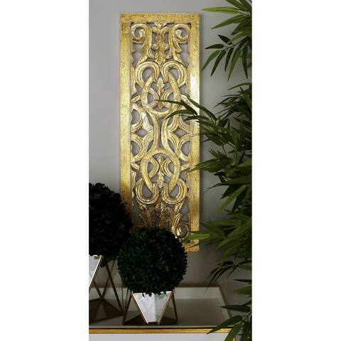 Copper Grove Chatfield Gold Wood Wall Panel