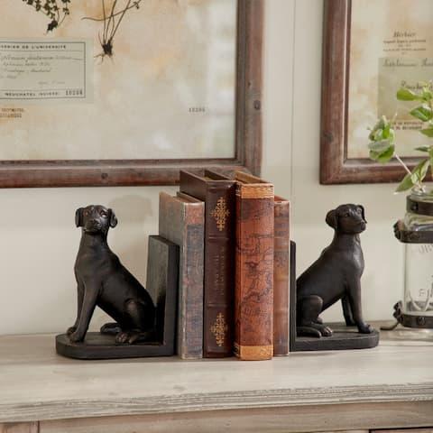 Carbon Loft Ostriker Polystone Dog Themed Book End