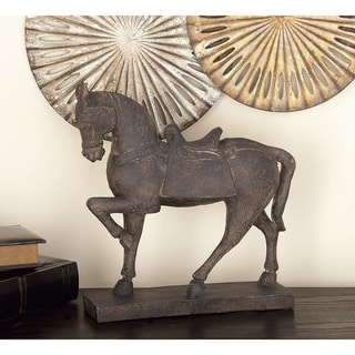 Copper Grove Chatfield Polystone Horse Sculpture Figurine