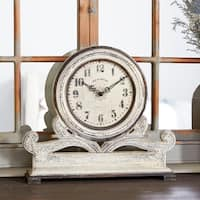 Copper Grove Chatfield Stone Grey Mahogany Table Clock