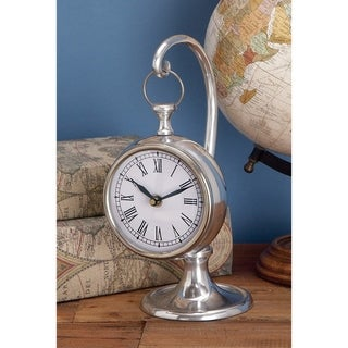 Copper Grove Chatfield Aluminum 'Ship's Time' Suspended Table Clock