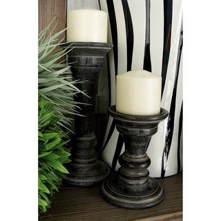 The Gray Barn Crow Haven Wood Candle Holder (Pack of 3)