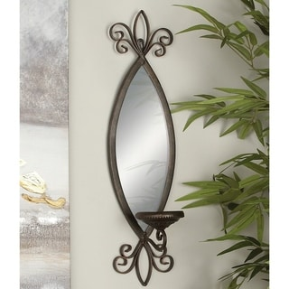 Copper Grove Chatfield Wall Mounted Bronze Mirror Candle Sconce