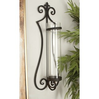 Copper Grove Chatfield Metal and Glass Candle Sconce