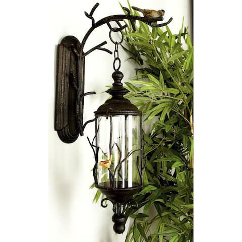 Copper Grove Katmai Bronze Finish Metal and Glass 25-inch x 5-inch Hanging Lantern
