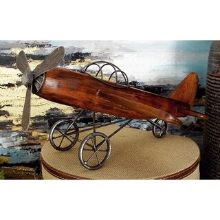 Carbon Loft Ostriker Rustic Wood and Iron Model Plane