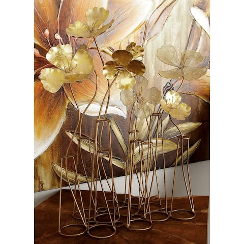 The Curated Nomad Sunview Rustic Iron Flower Garden Table Decoration