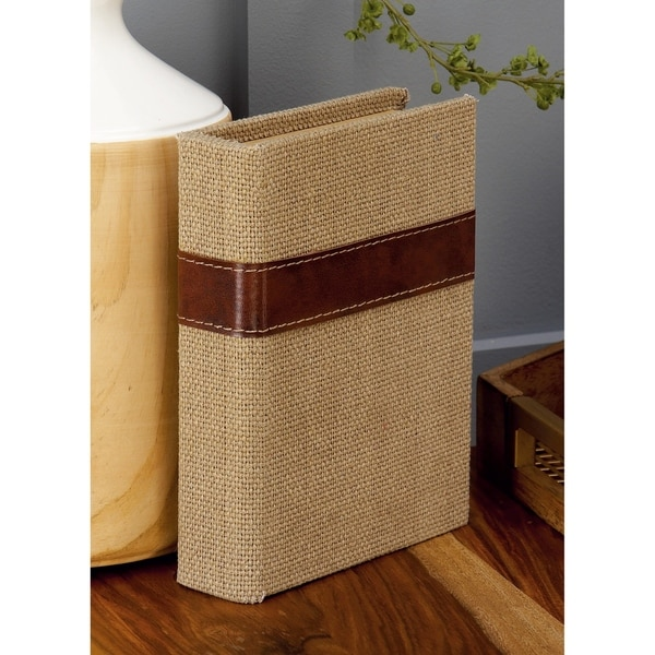 Copper Grove Chatfield Book-shaped Wooden Burlap Boxes (Pack of 3)