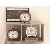 The Gray Barn Wern Fach Rustic Elegance Assorted Metal and Wood Table Clocks (Pack of 3)