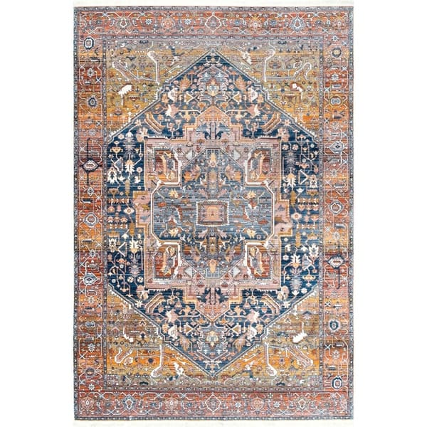 Gracewood Hollow Lapointe Medallion Border Area Rug