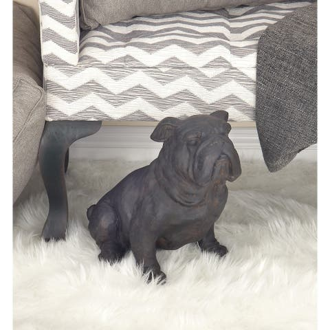 Rye Dark Bronze Finish Polystone Bull Dog by Havenside Home