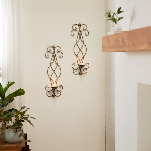 Copper Grove Chatfield Metal Candle Sconce (Set of 2)