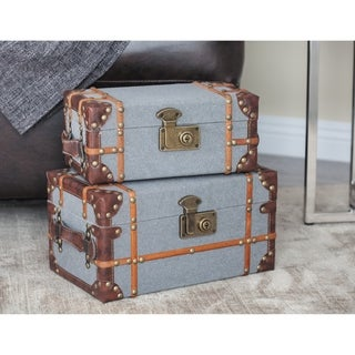 The Curated Nomad Youngman Wood Fabric 2-piece Box Set