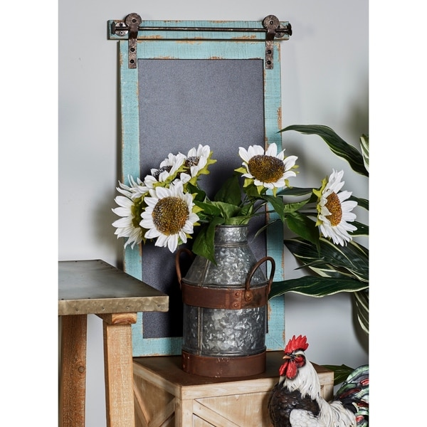 The Gray Barn Treetrunk Burrow Traditional Vertical Wood and Iron Chalkboard
