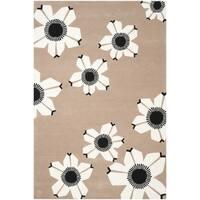 Safavieh Hand-Tufted Allure Brown Wool Rug (8' x 10')