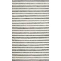 Safavieh Hand-Woven Dhurries Grey/ Ivory Wool Rug - 8' x 10'