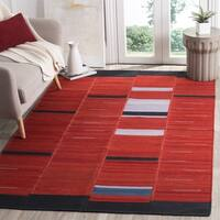 Safavieh Hand-Woven Kilim Red Wool Rug - 8' x 10'