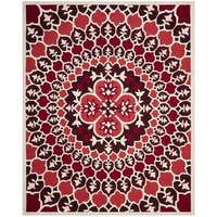 Safavieh Bellagio Contemporary Hand-Tufted Red/ Ivory Wool Area Rug (8' x 10')