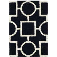 Safavieh Handmade Moroccan Cambridge Black/ Ivory Wool Accent Rug - 2' x 3'