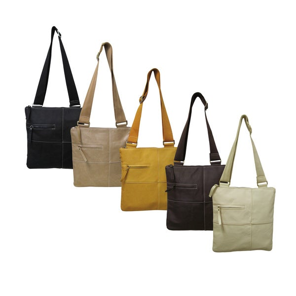 Amerileather Women's Slim Cross-Body Messenger-style Bag