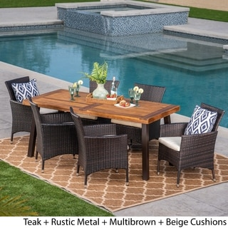 wood outdoor dining set amish dining table tustin outdoor piece acacia wood wicker dining set by christopher knight home wood patio furniture find great seating deals