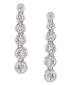 Icz Stonez Sterling Silver Journey of Life Cubic Zirconia Earring
