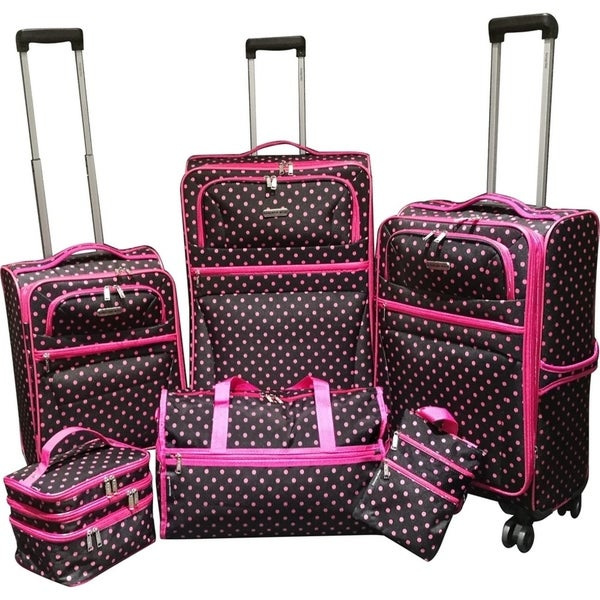 e21f430ae Shop Karriage-Mate Polka Dots 6-piece Expandable Spinner Luggage Set - 28