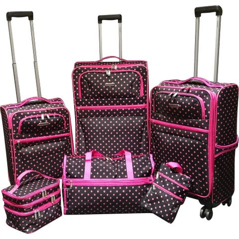 2310ff844 Karriage-Mate Polka Dots 6-piece Expandable Spinner Luggage Set - 28
