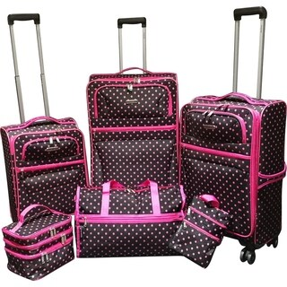 Karriage-Mate Polka Dots 6-piece Expandable Spinner Luggage Set
