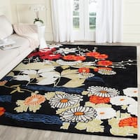 Safavieh Handmade Bella Black/ Multi Wool Rug - 8' x 10'