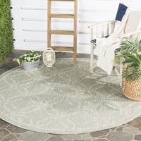 Safavieh Indoor/ Outdoor Courtyard Green/ Grey Rug - 6' 7