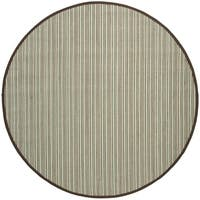 Safavieh Natural Fiber Teal/ Brown Sisal Rug