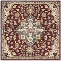 Safavieh Handmade Aspen Red/ Blue Wool Rug