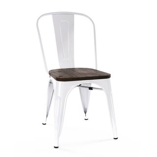 Amalfi Glossy White Elm Wood Stackable Side Chair (Set of 2)