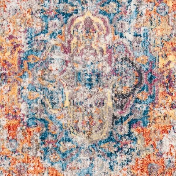 Safavieh Bristol Bohemian Oriental Blue Orange Runner Rug Overstock 21103089