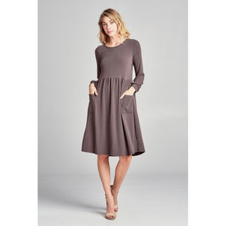 Spicy Mix Maternity Nursing Lightweight Sweater Midi Dress (3 options available)