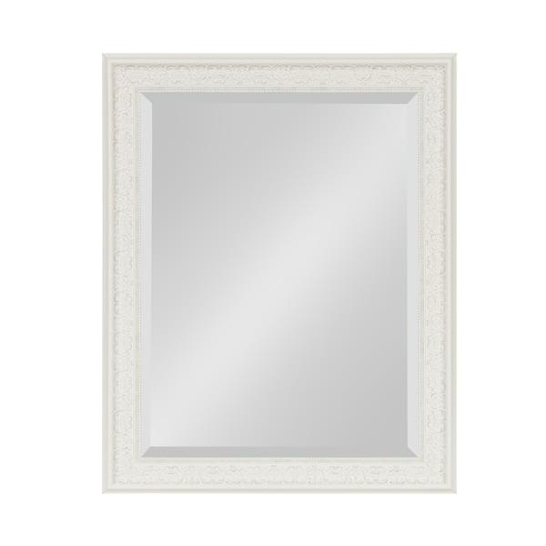 Shop Alysia Decorative Frame Rectangle Wall Mirror - White - On Sale ...