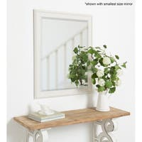 Alysia Decorative Frame Rectangle Wall Mirror - White
