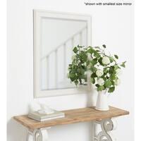 Alysia Decorative Frame Rectangle Wall Mirror - White
