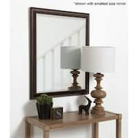 Aldridge Framed Decorative Rectangle Wall Mirror - Bronze