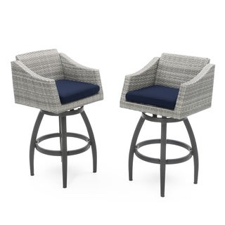 Cannes Swivel Barstool 2pk in Navy Blue by RST Brands®