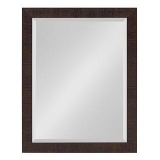 Sierra Framed Rectangle Wall Mirror - Dark Brown