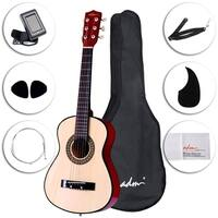 ADM 30 Inch Acoustic Beginner Guitar Classical Guitar Starter Kits with Carrying Bag & Accessories, Natural