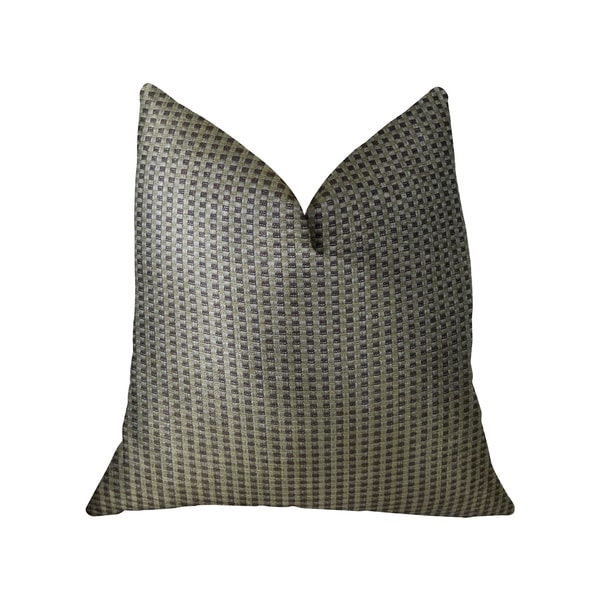 Plutus Bellevue Brown Handmade Decorative Throw Pillow