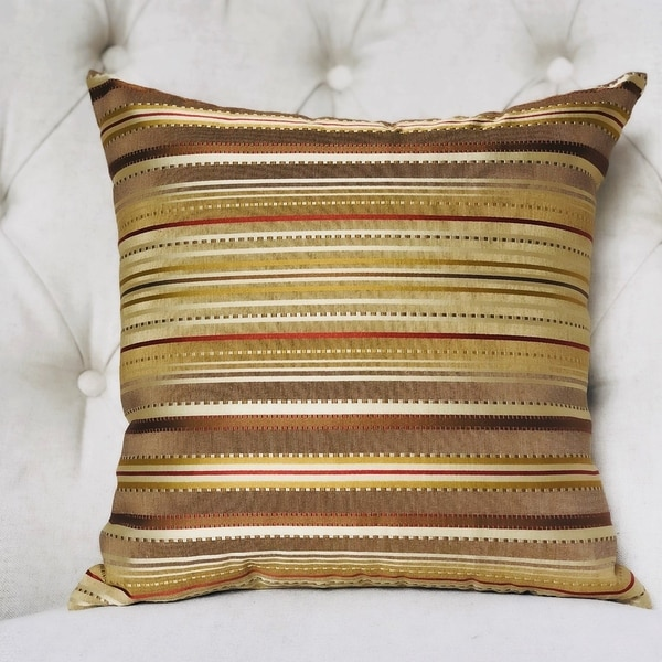 Plutus Macedonia Gold Red and Silver Handmade Decorative Throw Pillow