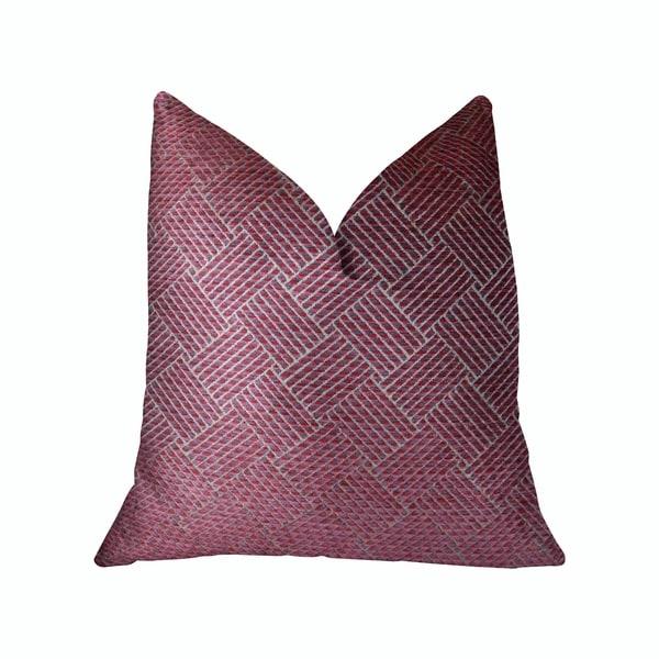 Plutus Boysenberry Pink and Cream Handmade Decorative Throw Pillow