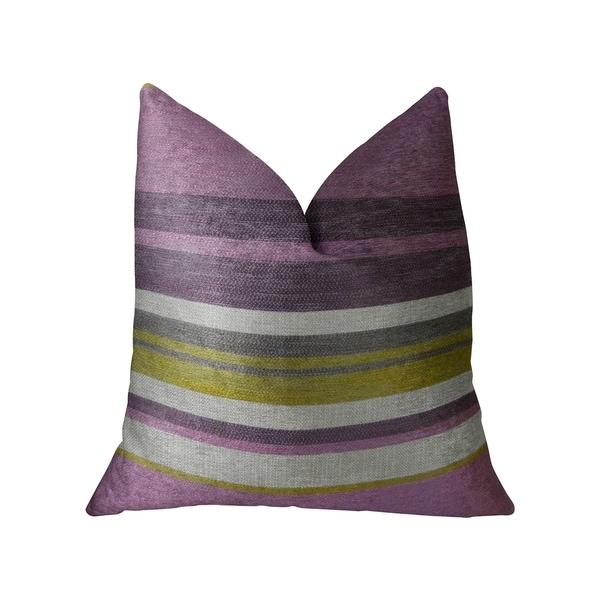 Plutus Acai Crush Berry Olive and Cream Handmade Decorative Throw Pillow